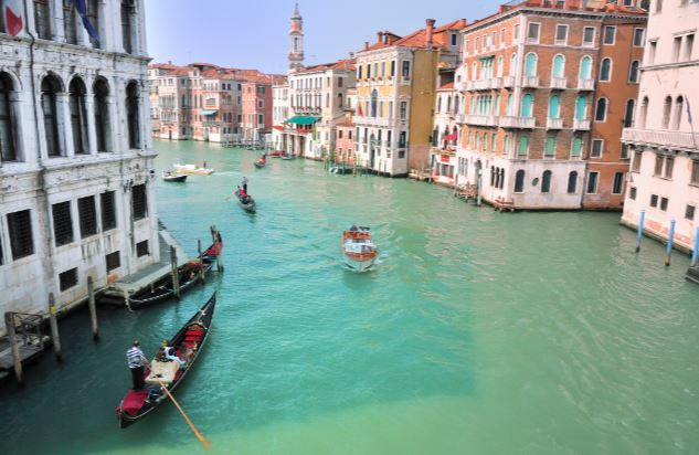 floating buildings in venice